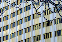 Windows repeat patterns, SPC building, Victoria Avenue Regina Saskatchewan