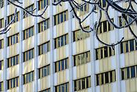 Windows repeat patterns, SPC building, Victoria Avenue Regina Saskatchewan