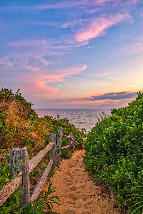 Cape Cod Bay Thumpertown Beach at sunset. This beautiful Cape beach is located in Eastham, Massachusetts and only a few steps from one of Cape Cod's most iconic lighthouses Nauset Beach Light, famous for its logo appearance on the Cape Cod chips.<br /> <br /> Massachusetts Cape Cod Bay fine art photography images are available as museum quality photography prints, canvas prints, acrylic prints or metal prints. Fine art prints may be framed and matted to the individual liking and decorating needs:<br /> <br /> https://juergen-roth.pixels.com/featured/cape-cod-bay-thumpertown-beac-juergen-roth.html<br /> <br /> All New England photos are available for photography image licensing at www.RothGalleries.com. Please contact Juergen with any questions or request. <br /> <br /> Good light and happy photo making!<br /> <br /> My best,<br /> <br /> Juergen