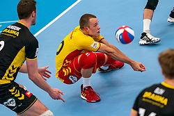 Jeffrey Klok #20 of Dynamo in action in the second round between Sliedrecht Sport and Draisma Dynamo on February 29, 2020 in sports hall de Basis, Sliedrecht
