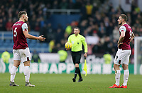 Burnley's James Tarkowski (left) and Chris Wood are dejected at the final whistle<br /> <br /> Photographer Rich Linley/CameraSport<br /> <br /> The Premier League - Burnley v Aston Villa - Wednesday 1st January 2020 - Turf Moor - Burnley<br /> <br /> World Copyright © 2020 CameraSport. All rights reserved. 43 Linden Ave. Countesthorpe. Leicester. England. LE8 5PG - Tel: +44 (0) 116 277 4147 - admin@camerasport.com - www.camerasport.com