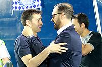 CD Leganes' coach Asier Garitano (l) and Getafe CF's coach Jose Bordalas during La Liga match. September 8,2017. (ALTERPHOTOS/Acero)