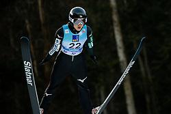 Nozomi Maruyama of Japan soaring through the air during 1st Round at Day 1 of World Cup Ski Jumping Ladies Ljubno 2019, on February 8, 2019 in Ljubno ob Savinji, Slovenia. Photo by Matic Ritonja / Sportida