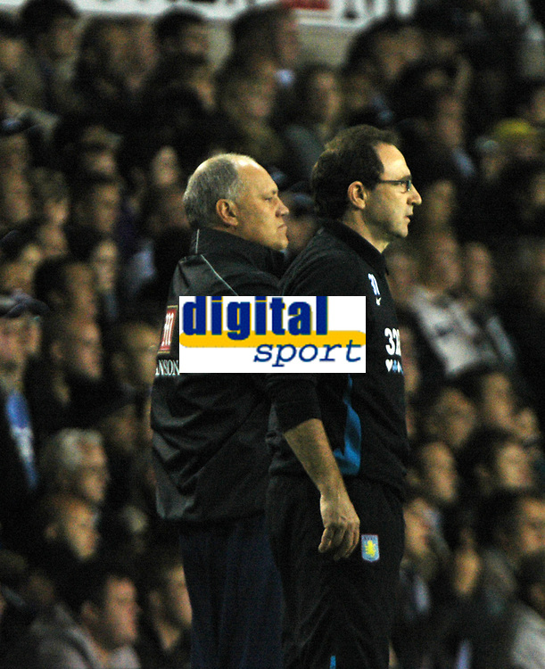 Photo: Tony Oudot.<br /> Tottenham Hotspur v Aston Villa. The FA Barclays Premiership. 01/10/2007.<br /> The two managers Martin O'Neill and Martin Jol stand head to head during the game