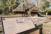 The Camp Walton Native American Temple Mound at Heritage Park and Cultural Center in Fort Walton Beach, Florida.