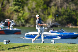 March 21, 2018 - Austin, TX, U.S. - AUSTIN, TX - MARCH 21: Russell Henley hits a tee shot during the First Round of the WGC-Dell Technologies Match Play on March 21, 2018 at Austin Country Club in Austin, TX. (Photo by Daniel Dunn/Icon Sportswire) (Credit Image: © Daniel Dunn/Icon SMI via ZUMA Press)