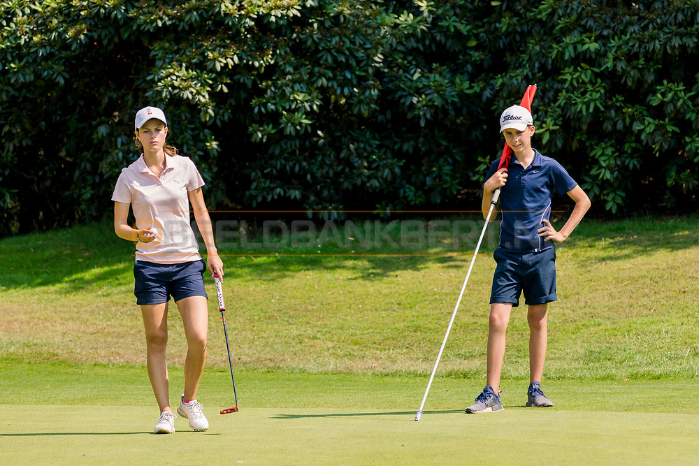 21-07-2018 Pictures of the final day of the Zwitserleven Dutch Junior Open at the Toxandria Golf Club in The Netherlands.21-07-2018 Pictures of the final day of the Zwitserleven Dutch Junior Open at the Toxandria Golf Club in The Netherlands.  SOHIER, Anouk (NL) with caddie Wes