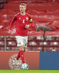 Simon Kjær (Danmark) under kampen i Nations League mellem Danmark og Island den 15. november 2020 i Parken, København (Foto: Claus Birch).