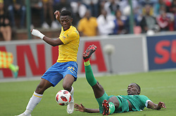 16092018(Durban) Goal scorer Phakamani Mahlambi holding a ball at a match were AmaZulu FC targeted an upset win over Mamelodi Sundowns when the teams meet at King Zwelithini Stadium on 16 September 2018<br /> Picture: Motshwrai Mofokeng/African News Agency (ANA)