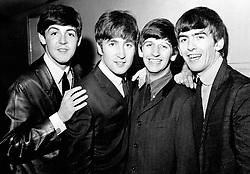 Embargoed to 0001 Friday June 08 File photo dated 1/6/1963 of The Beatles pop group, left to right, Paul McCartney, John Lennon, Ringo Starr and George Harrison. British music accounted for one in every eight albums sold or streamed around the world last year, a report has revealed.