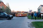 Een afgesloten sluiproute in het Belgische grensdorpje Meersel-Dreef