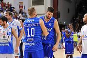 DESCRIZIONE : Beko Legabasket Serie A 2015- 2016 Dinamo Banco di Sardegna Sassari - Enel Brindisi<br /> GIOCATORE : Nemanja Milosevic Djordje Gagic<br /> CATEGORIA : Ritratto Esultanza Postgame<br /> SQUADRA : Enel Brindisi<br /> EVENTO : Beko Legabasket Serie A 2015-2016<br /> GARA : Dinamo Banco di Sardegna Sassari - Enel Brindisi<br /> DATA : 18/10/2015<br /> SPORT : Pallacanestro <br /> AUTORE : Agenzia Ciamillo-Castoria/C.Atzori