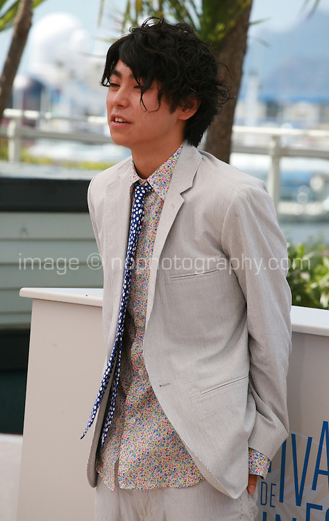 Actor Nijiro Murakami at the photo call for the film Still The Water (Futatsume No Mado), at the 67th Cannes Film Festival, Tuesday 20th May 2014, Cannes, France.