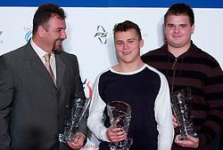 Vladimir Kevo, Erik Voncina and Tomaz Bogovic at Best Slovenian athlete of the year ceremony, on November 15, 2008 in Hotel Lev, Ljubljana, Slovenia. (Photo by Vid Ponikvar / Sportida)