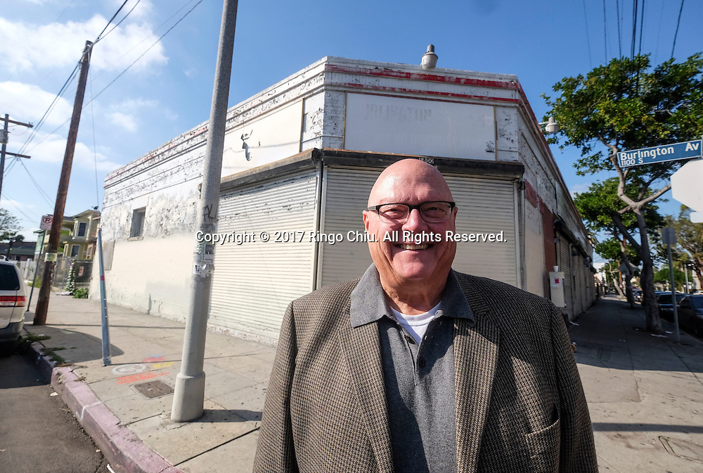 Bob Buente, President and CEO, 1010 Development Corp.  with the historical building at 1800 W. 11th Street in downtown Los Angeles. (Photo by Ringo Chiu/PHOTOFORMULA.com)<br /> <br /> Usage Notes: This content is intended for editorial use only. For other uses, additional clearances may be required.