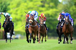 Sea The Lion ridden by Ronan Whelan (centre) go on to win Fitzpatrick Gallagher McEvoy Solicitors Handicap during Derrinstown Stud Derby Trial Day at Leopardstown Racecourse, Dublin.