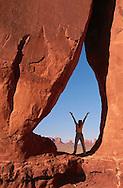 Woman in Rock Formation