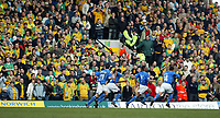 Photo:Scott Heavey<br />Norwich City V Ipswich Town. 02/03/03.<br />Fabian Wilnis and the Ipswich team celebrate infront of a sea of yellow  during this Nationwide division 1 match.