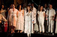 London Lucumi Choir performing at Union Chapel in Islington, supporting flamenco singer Buika, La Linea Festival, London, UK (18 April 2013)