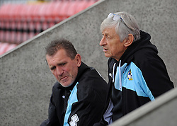 Keith and Stuart - Mandatory byline: Neil Brookman/JMP - 07966 386802 - 03/10/2015 - FOOTBALL - Globe Arena - Morecambe, England - Morecambe FC v Bristol Rovers - Sky Bet League Two