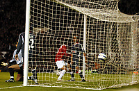 RUUD VAN NISTELROOY SCORES 2ND GOAL<br />MANCHESTER UNITED 2005/06<br />MANCHESTER UNITED V SL BENFICA 27/09/05<br />THE UEFA CHAMPIONS LEAGUE GROUP D<br />PHOTO ROBIN PARKER FOTOSPORTS INTERNATIONAL