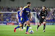 AFC Wimbledon striker Ollie Palmer (9) dribbling during the EFL Sky Bet League 1 match between AFC Wimbledon and Lincoln City at Plough Lane, London, United Kingdom on 2 January 2021.