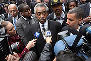 l to r: Rev. Al Sharpton and Governor David Patterson at the funeral for NYPD Officer Omar Edwards held at Our Lady of Victory in Brooklyn on June 4, 2009..NYPD Officer Omar Edwards posthumusly promoted to the rank of Detective was killed by NYPD Detective Andrew Dunton in a case of friendly fire, when Edwards was takened for a suspect with gun in hand. On Thursday June 4 2009, Officer Omar J. Edwards, 25, was shot by a fellow officer on a Harlem street while in street clothes. He had just finished his shift, and had his service weapon out, chasing a man who had broken into his car, police said. Three plainclothes officers on routine patrol arrived at the scene and yelled for the two to stop, police said. One officer, Andrew Dunton, opened fire and hit Edwards three times as he turned toward them with his service weapon. It wasn't until medical workers were on scene that it was determined he was a police officer.