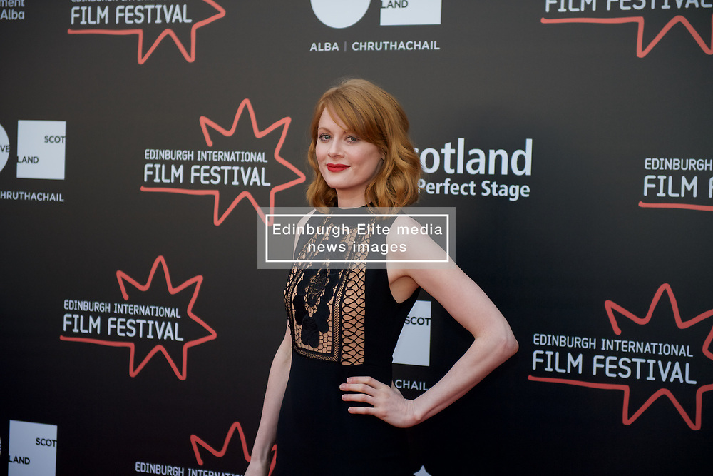 On the red carpet during the Edinburgh International Film Festival Premier of Daphne at Cineworld, Emily Beecham, Friday 23rd June 2017(c) Brian Anderson   Edinburgh Elite media