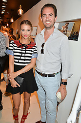 SOPHIE HERMANN and RUPERT COLLINGWOOD at the launch for the collaboration of Joel Swimwear for Collier Bristow held at Collier Bristow, 61 King's Road, Chelsea, London on 11th August 2016.