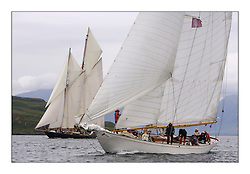 Halloween 1926 Berm Sloop and Mariette 1915 Gaff Schooner...The Round Cumbraes race at Largs starting the 3rd Fife Regatta...* The Fife Yachts are one of the world's most prestigious group of Classic .yachts and this will be the third private regatta following the success of the 98, .and 03 events.  .A pilgrimage to their birthplace of these historic yachts, the 'Stradivarius' of .sail, from Scotland's pre-eminent yacht designer and builder, William Fife III, .on the Clyde 20th -27th June.   . ..More information is available on the website: www.fiferegatta.com . .Press office contact: 01475 689100         Lynda Melvin or Paul Jeffes