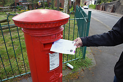 Postal vote for local elections on 4 May, Norwich UK April 2017. MR