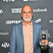 Allen Kovac receive awards at AIM Independent Music Awards at the Roundhouse on 3 September 2019, Camden Town, London, UK.