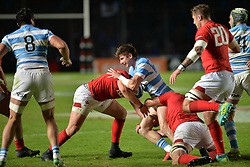 June 16, 2018 - Santa Fe, Argentina - Players in action during the International Test Match between Argentina and Wales at the Brigadier Estanislao Lopez Stadium, on June 16, 2018 in Sante Fe, Argentina. (Credit Image: © Javier Escobar/NurPhoto via ZUMA Press)