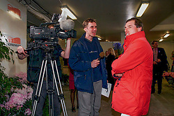 Philippaerts Ludo (BEL) and Lammens Stefan of the Belgium television<br /> World Cup Final Göteborg 2001<br /> © Dirk Caremans