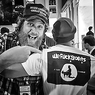 Pax Dickinson and Street Artist SABO at the 2016 CPAC Convention