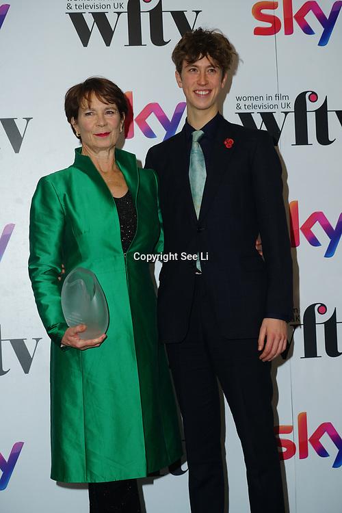 London Hilton, Park lane, England, UK. 1st December 2017. Celia Imrie attends the Sky Women in Film and TV Awards.