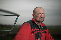 © Licensed to London News Pictures . 10/03/2017 . Preston , UK . Farmer Allan Wensley at Plumpton Hall Farm . Allan faces protests from neighbours and environmental campaigners after renting fields around his farm to fracking firm Cuadrilla . Photo credit : Joel Goodman/LNP