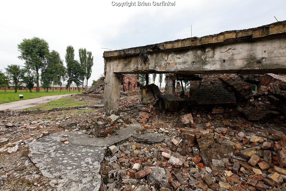 A destroyed crematorium in Auschwitz-Birkenau Concentration Camp in Poland on Tuesday July 5th 2011.  (Photo by Brian Garfinkel)