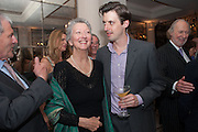 JUDITH ANSON; CHARLIE ANSON, Juliet Nicolson - book launch party for  her latest novel Abdication, about British society after the death of George V.  The Gallery at The Westbury, 37 Conduit Street, Mayfair, London, 12 June 2012