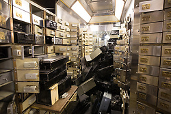EDITORIAL USE ONLY<br /> Safety deposit boxes at the Hatton Garden Safe Deposit, in Hatton Garden, London, which was at the centre of a high profile heist in 2015 by a gang of career criminals who stole &pound;14 million worth of jewels.