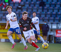 20MAR21 Montrose Cammy Ballantyne and Falkirk's Blair Alston. Falkirk 2 v 0 Montrose, Scottish Football League Division One game played 20/3/2021 at The Falkirk Stadium.