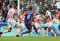 Football - 2016 / 2017 Premier League - Crystal Palace vs Stoke City<br /> <br /> Scott Dann of Crystal Palace scores goal no 2 at Selhurst Park<br /> <br /> <br /> Credit : Colorsport / Andrew Cowie