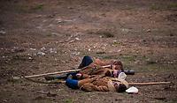27.04.2013 Uroczysko Piereciosy w Puszczy Knyszynskiej woj podlaskie N/z rekonstrukcja bitwy pod Walilami z 29 kwietnia 1863 roku, w ktorej zginelo 32 powstancow. Była to jedna z najwiekszych bitew Powstania Styczniowego na Bialostocczyznie fot Michal Kosc / AGENCJA WSCHOD