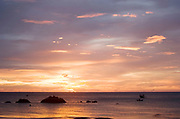 Sunset over Klong Nin beach, Koh Lanta. This quiet beach half way down the west coast of the island is a real retreat from the busier beaches in the north of the island. The further south you go, the quieter they become. Sunsets are always stunning.