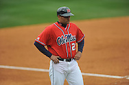 Ole Miss third base coach Cliff Godwin (23) vs. Lipscomb at Oxford-University Stadium in Oxford, Miss. on Sunday, March 10, 2013. Ole Miss won 9-8. The Rebels improve to 16-1.