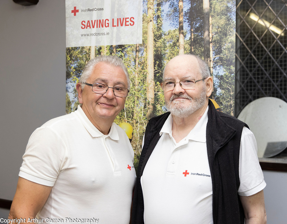 Patrick Woods and Patrick McGahey, Red Cross Volunteers, Drogheda. Picture: Arthur Carron