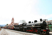 Mariana_MG, Brasil...Maria Fumaca ou locomotiva a vapor que faz o trajeto entre Mariana e Ouro Preto...The steam locomotive, this route is between Mariana and Ouro Preto...Foto: LEO DRUMOND / NITRO.