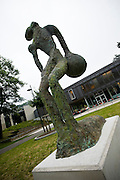 Genk, Belgium, Aug 12, 2009, Perseus Point, a sculpture by Johan TAHON, PHOTO © Christophe Vander Eecken Work by or related to Johan Tahon
