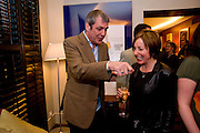 NEIL MORRISSEY; JENNIE BLOUET, Celebratory drinks given by  homeless charity, StreetSmart, last night at the Groucho Club in Soho, congratulating the team on the £450,000 it raised last year for the homeless nationwide.  Groucho  Club, Dean S. t. 7 April  2009
