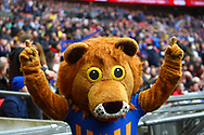 Shrewsbury mascot during the EFL Trophy Final match between Lincoln City and Shrewsbury Town at Wembley Stadium, London, England on 8 April 2018. Picture by John Potts.
